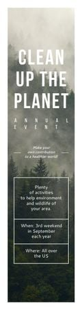 Ecological Event Announcement Foggy Forest View Skyscraper – шаблон для дизайну