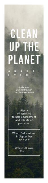 Szablon projektu Ecological Event Announcement Foggy Forest View Skyscraper