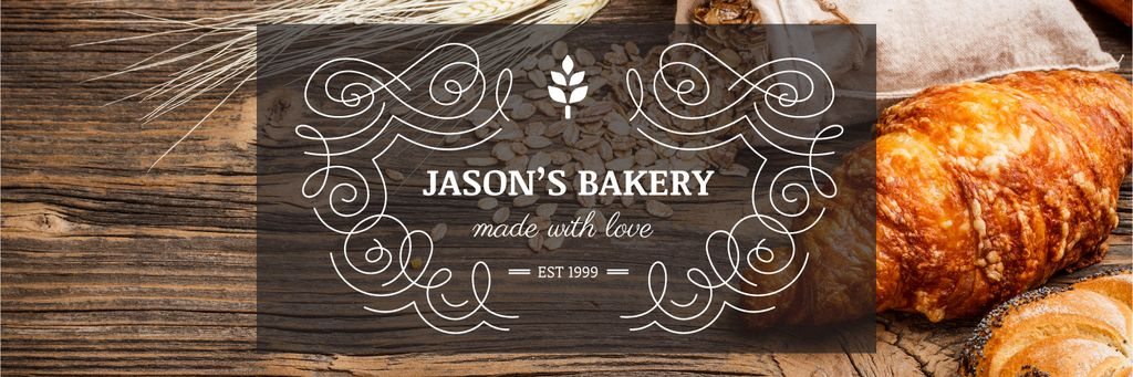 Bakery Offer Fresh Croissants on Table Twitter – шаблон для дизайна
