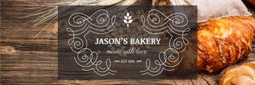 Bakery Offer Fresh Croissants on Table