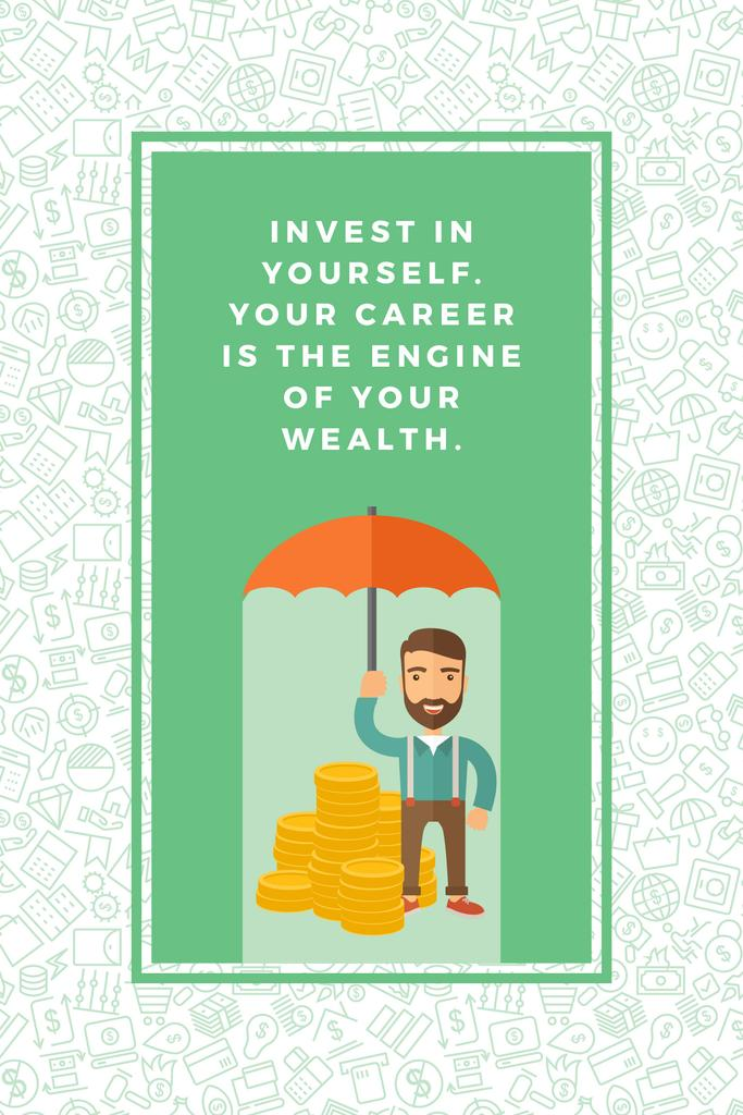 Citation about personal invest — Créer un visuel