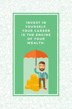 Citation about personal invest Pinterestデザインテンプレート