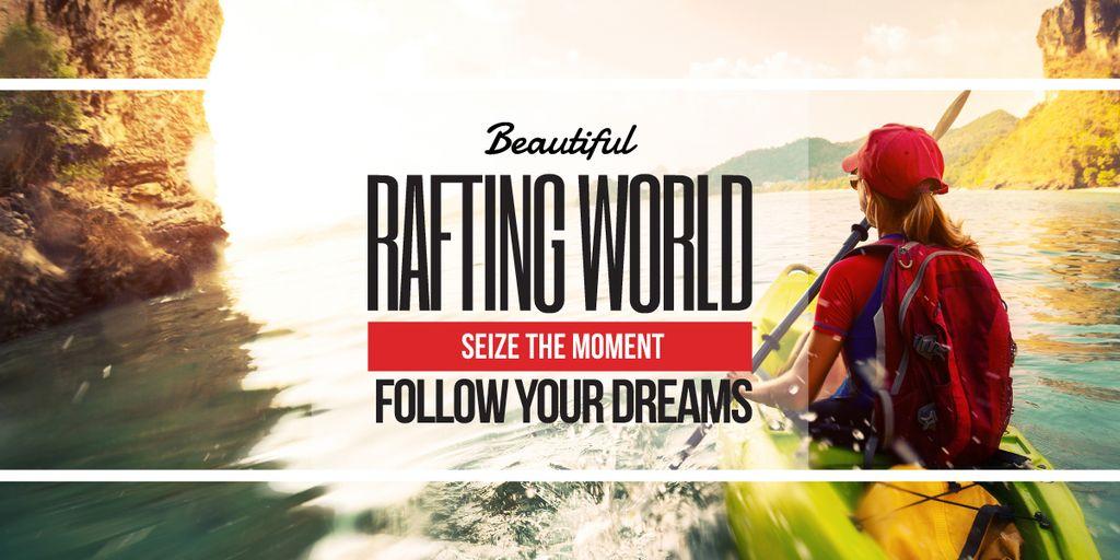 Rafting world banner — Crear un diseño