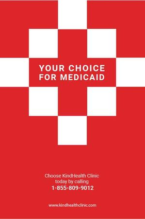 Plantilla de diseño de Medicaid Clinic Ad Red Cross Tumblr