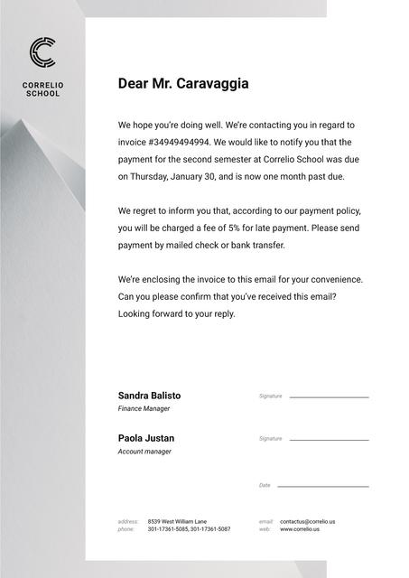 Education Payment confirmation Letterhead Design Template