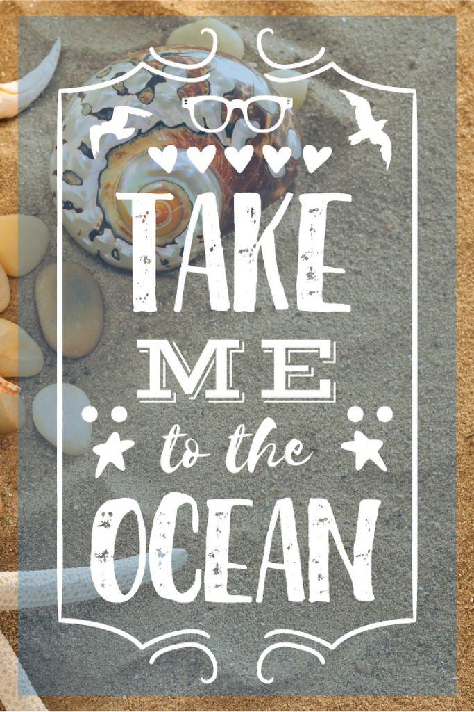 Vacation Theme Shells on Sandy Beach — Створити дизайн