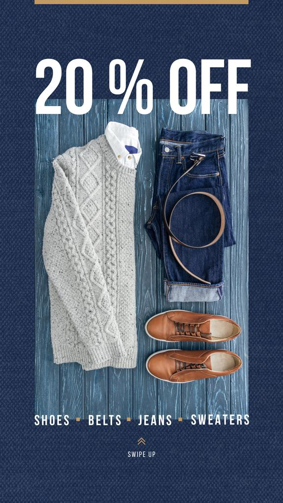 Fashion Sale Casual Winter Outfit — Maak een ontwerp