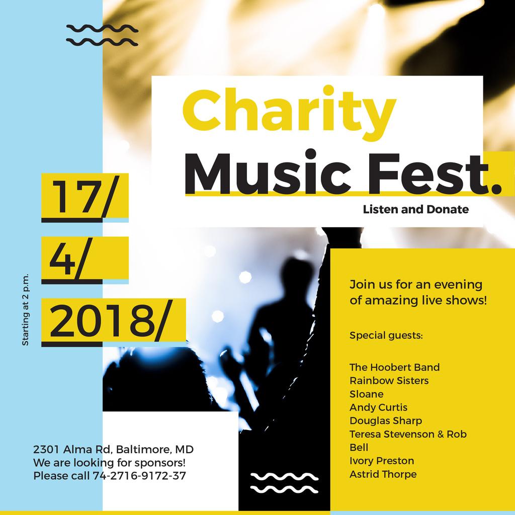 Music Fest Invitation Crowd at Concert — Створити дизайн
