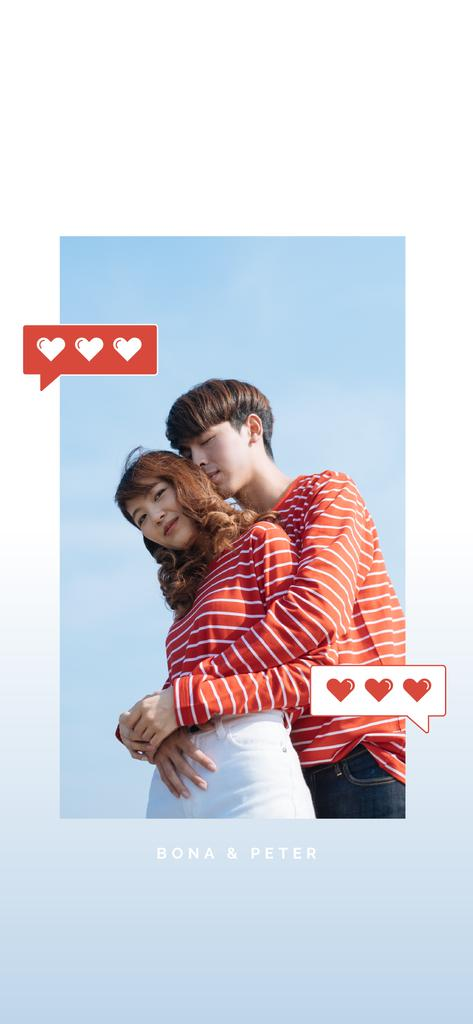 Loving Couple in matching outfits — Créer un visuel