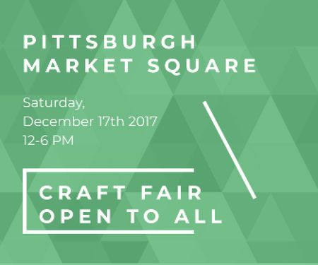 Ontwerpsjabloon van Large Rectangle van Craft fair in Pittsburgh