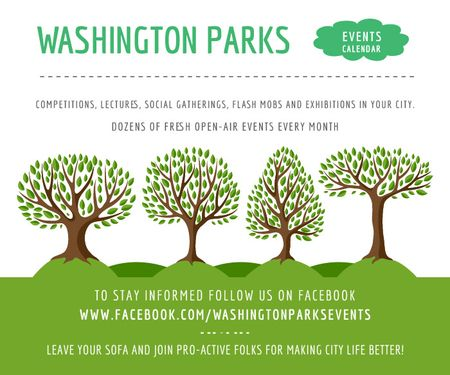Ontwerpsjabloon van Large Rectangle van Events in Washington parks
