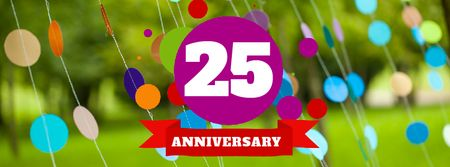 Anniversary celebration template Facebook Video cover Tasarım Şablonu