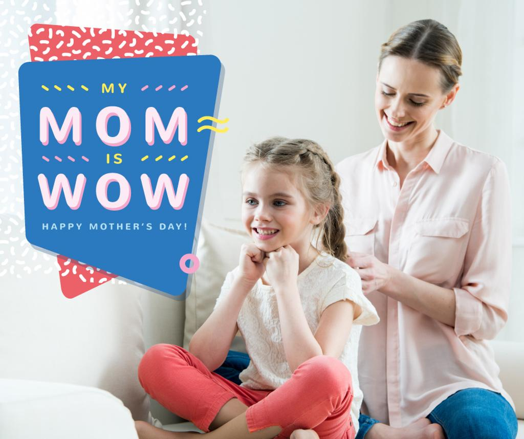 Happy Mom with daughter on Mother's Day — Create a Design