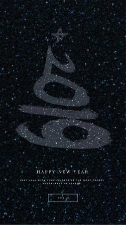 Plantilla de diseño de New Year Shining Glitter Greeting Instagram Video Story