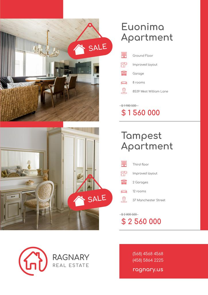 Real Estate Ad Elegant Room Interior — Créer un visuel