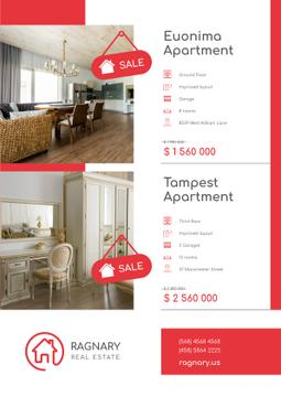 Real Estate Ad with Elegant Room Interior