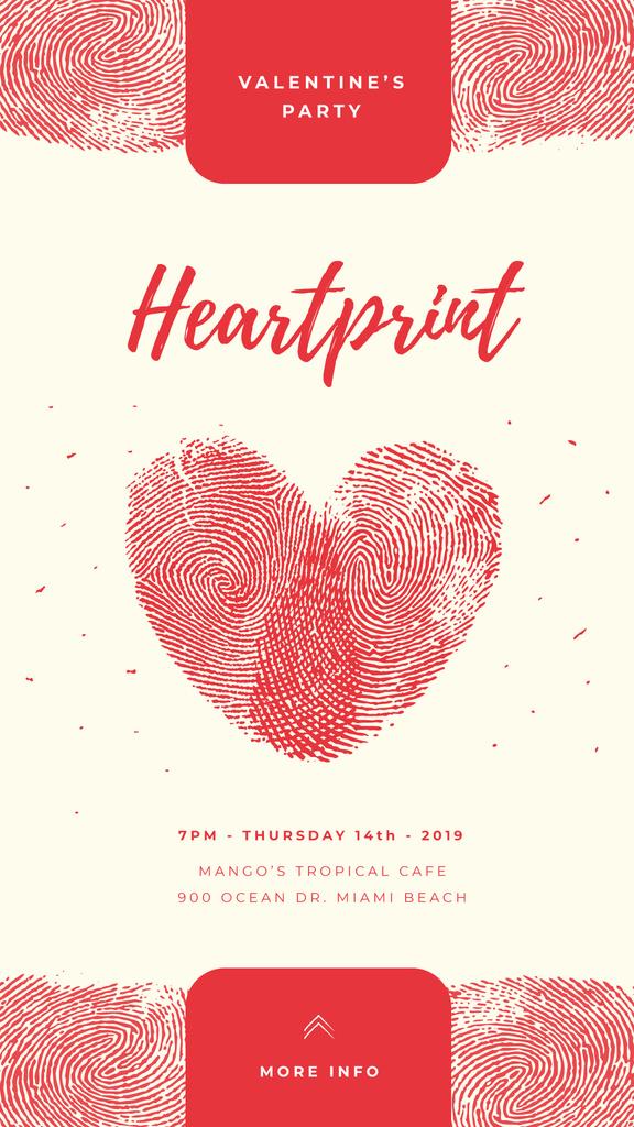 Valentines Heart made by fingerprints — Modelo de projeto