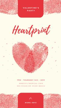 Heart symbol from fingerprints