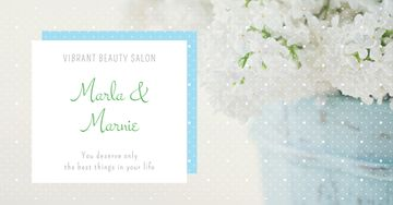 Beauty salon Ad with Tender white Bouquet