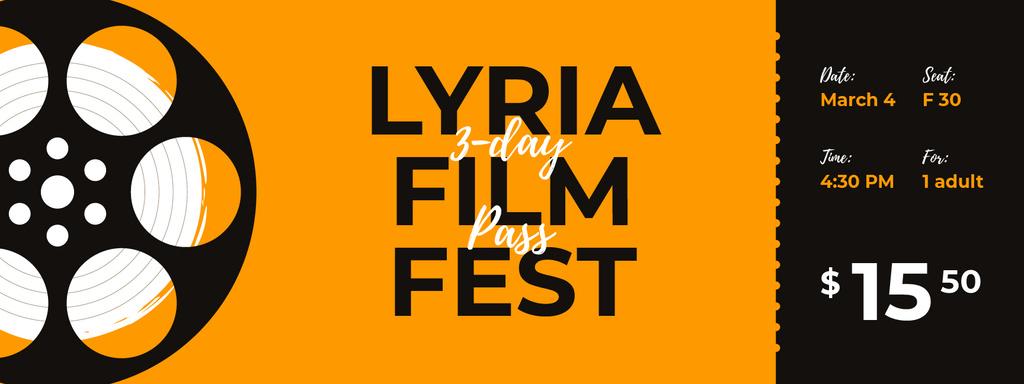 Film Festival with old Reel - Vytvořte návrh