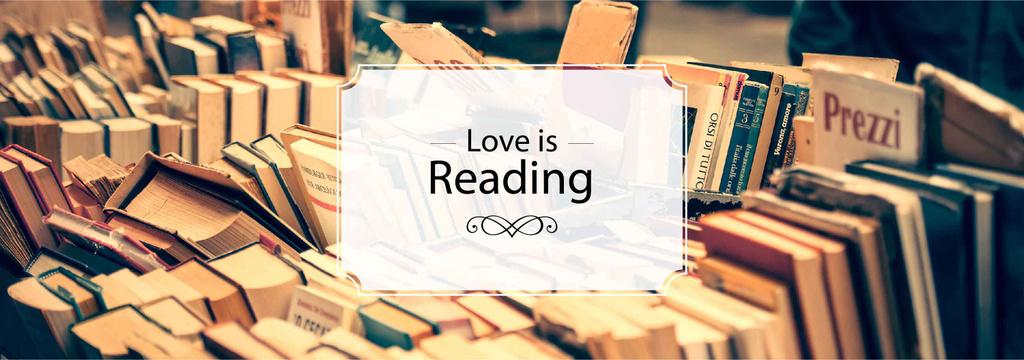 Reading Inspiration Books on Shelves | Tumblr Banner Template — Создать дизайн