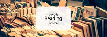 Reading Inspiration Books on Shelves | Tumblr Banner Template