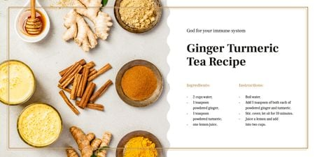 Aromatic spices assortment Image Design Template