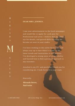 Nail Artist motivation letter