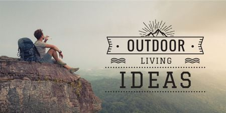 Plantilla de diseño de Man travelling outdoors Image