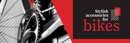 Ontwerpsjabloon van Twitter van Banner for bicycle store