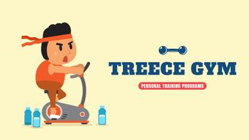 Gym Ticket Offer Man Training on Spinning Bike | Full Hd Video Template