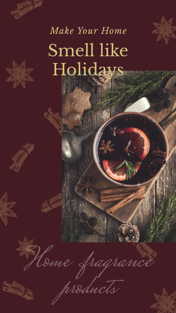 Red mulled Christmas wine — Créer un visuel