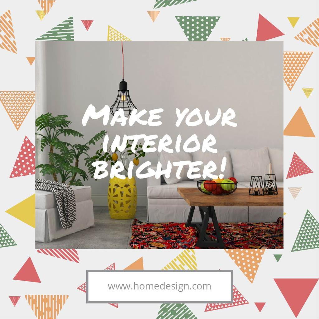 Home design Ad with Cozy Room — Crear un diseño