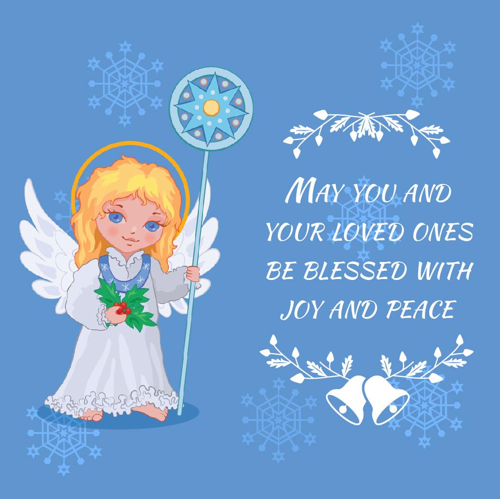 Little girl angel in Blue — Crear un diseño