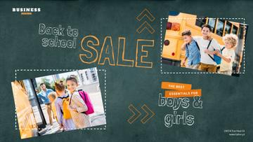 Back to School Sale Kids by School Bus | Full Hd Video Template