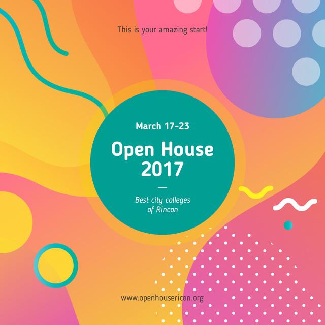 Educational Event Bright Memphis Pattern Instagram AD Modelo de Design
