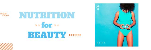 Nutrition for beauty banner Twitter Modelo de Design