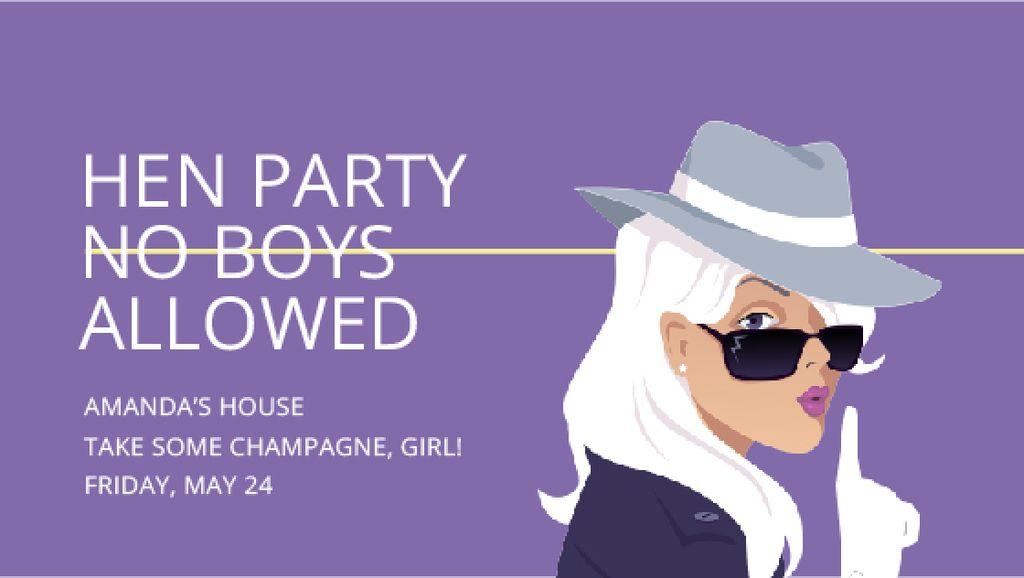 Hen Party invitation with Stylish Girl — Modelo de projeto