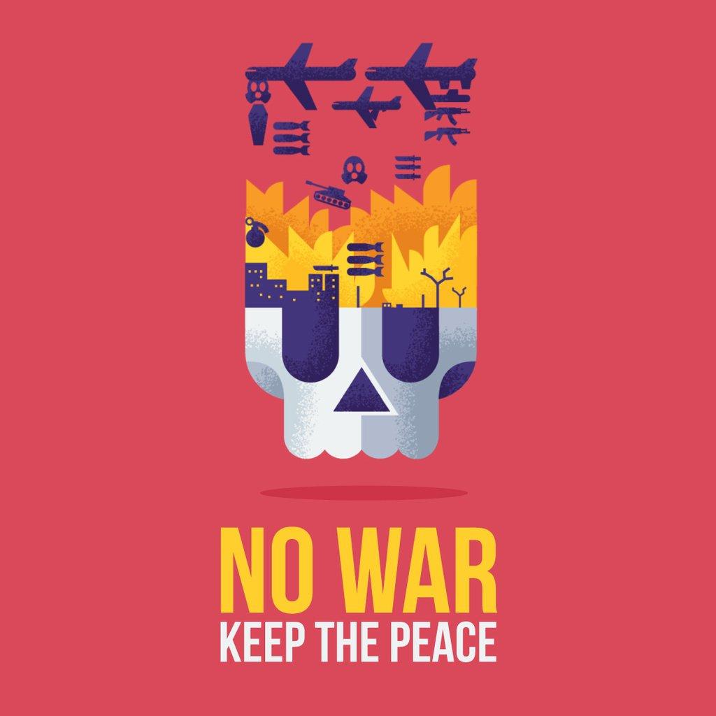 War Concept With Burning Skull — Crear un diseño