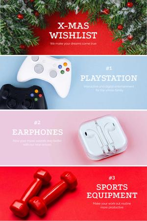 Template di design Christmas Gifts with Gadgets and Equipment Pinterest
