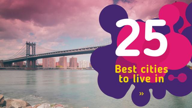 Designvorlage New York City Bridge View für Full HD video