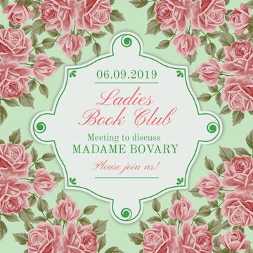 Ladies book club advertisement