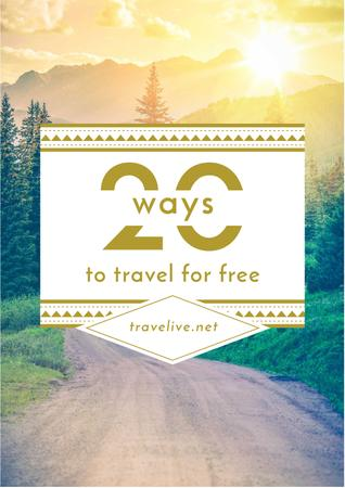 Plantilla de diseño de Travel Tips with Forest Road View Poster