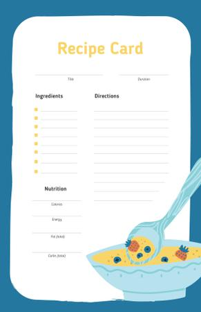 Template di design Fruit Soup with Strawberry and Blueberry Recipe Card