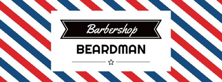 Szablon projektu Barbershop Ad with Striped Lamp Facebook Video cover