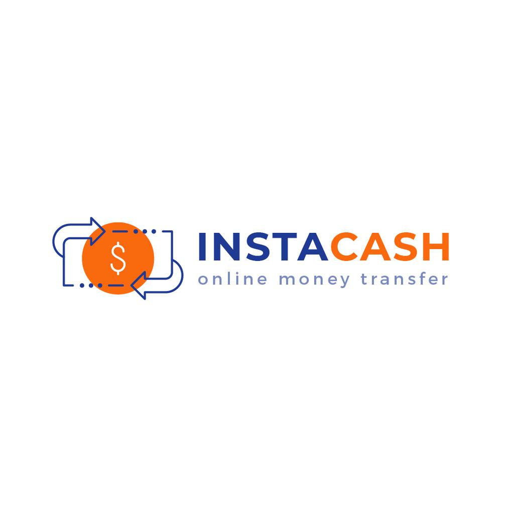 Payment Services Ad Dollar Icon with Arrows — Crear un diseño