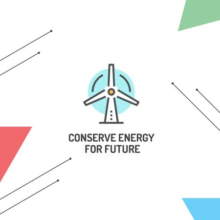 Ontwerpsjabloon van Instagram van Concept of Conserve energy for future