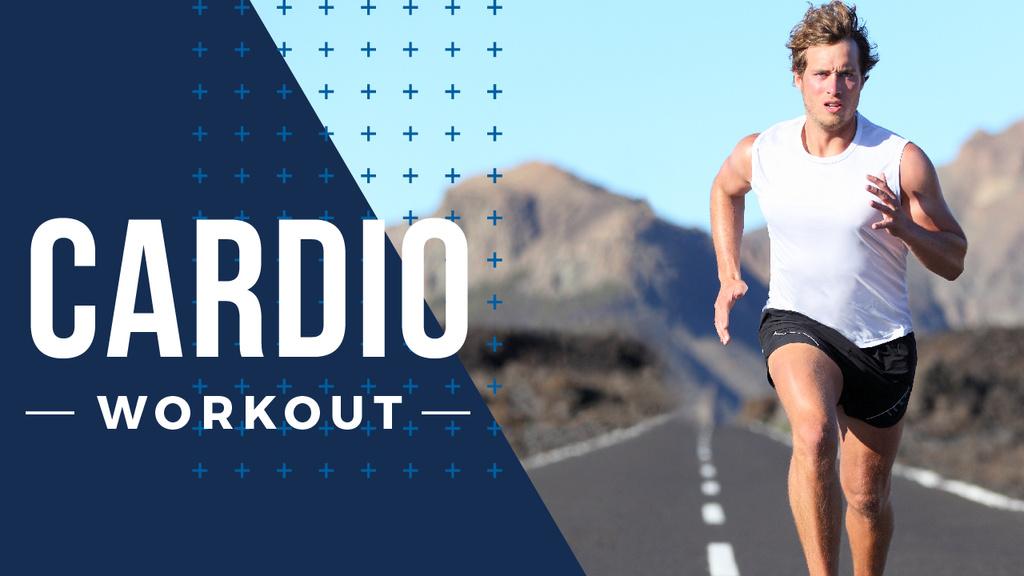 Cardio Workout Man Running Outdoors — Створити дизайн