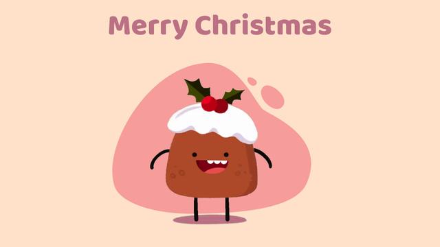 Modèle de visuel Happy Christmas pudding - Full HD video