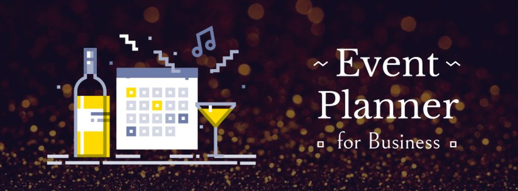 Calendar and champagne icons — Crear un diseño